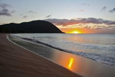 Plage de Grande Anse  - Guadeloupe - French Caribbean Island Sunrise Pics, Sunrise Pictures, Cheap Caribbean Islands, Guadalupe Island, Pointe À Pitre, Death In Paradise, French West Indies, Caribbean Vacations, Best Sunset