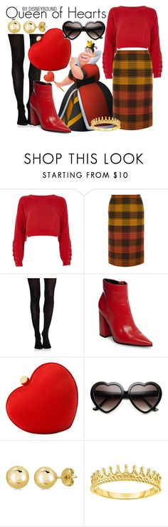"""Queen of Hearts"" by leslieakay ❤ liked on Polyvore featuring River Island, Bottega Veneta, SPANX, Steve Madden, Santi, ZeroUV, BERRICLE, disney, disneybound and disneycharacter"