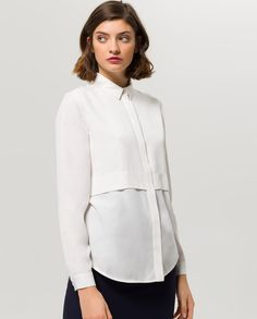 ded6c11df012a6 Blouse Layering - snow white