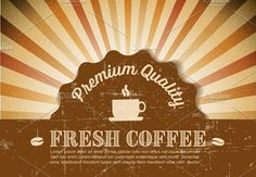 Retro coffee poster / banner by Orson on @creativemarket