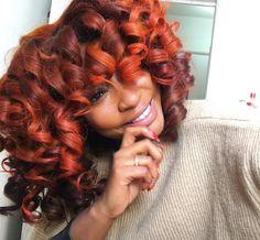 Gorgeous copper curls @stafanimilano  Read the article here - http://blackhairinformation.com/hairstyle-gallery/gorgeous-copper-curls-stafanimilano/