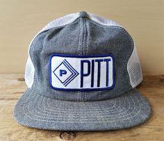 Vintage PITT Denim Mesh Trucker Hat Snapback Victory Caps Canada Baseball  Cap  VictoryCaps  BaseballCap 7409aebcda9f