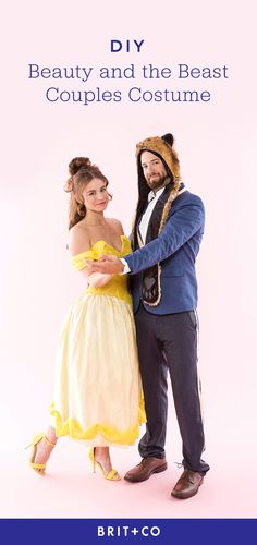 Bookmark this to see how to create a DIY Beauty and the Beast couples costume.