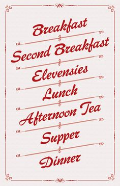 A Hobbit's Menu by Stuart Thursby, via Behance