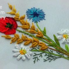 Simple Embroidery Designs, Hand Embroidery Patterns Flowers, Basic Embroidery Stitches, Floral Embroidery Patterns, Hand Embroidery Videos, Embroidery Flowers Pattern, Creative Embroidery, Learn Embroidery, Embroidery Stitches Tutorial