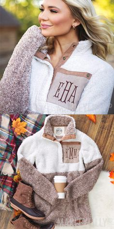 Cozy up in this personalized Cozy Sherpa Pullover! Featuring suede pocket detailing, this sherpa pullover is just as soft on the inside as it is on the outside!