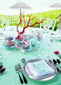 Centros de mesa para boda en la playa como tendencia 2015