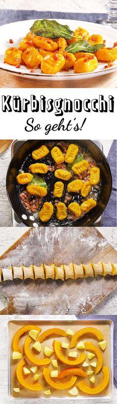Wer Kürbis mag, muss unser Rezept für Kürbisgnocchi ausprobieren! Wie du den Teig für Kürbisgnocchi selber machst, gibt's hier.