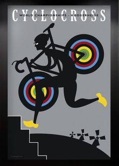Cyclocross World Championships in Hoogerheide cycling poster by Mike Valenti Art Mural, Cycling Art, Cycling Bikes, Cycling Clothes, Cycling News, Atelier Theme, Alpe D Huez, Bicycle Print, Poster
