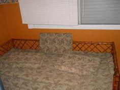 cama 1 plaza caña con carrito doble uso sillon sofa