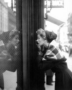 Suzy Parker wearing Lanvin-Castillo, Paris, 1952, photographed by Georges Dambier for ELLE