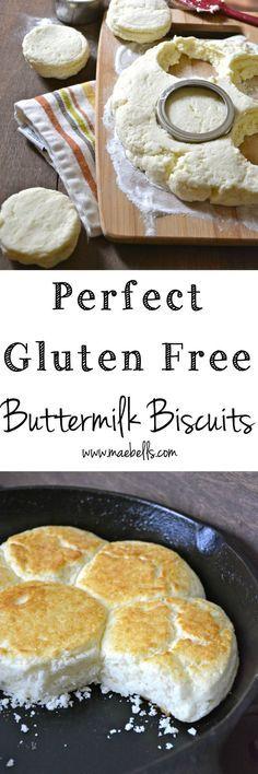 Perfect Gluten Free Buttermilk Biscuits, a no fail recipe! www.maebells.com