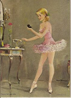 Lovely BALLERINA In A Pink Tutu by Rico Tomaso D.A.C. NY Lithograph No. 5789 by Walker Street Vintage, via Flickr