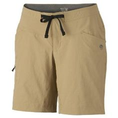 Mountain Hardwear Women's Yuma Shorts - Dune 14 by Mountain Hardwear. Save 50 Off!. $29.99. Micro-ChamoisTM-lined seamless conical waist for comfort under a pack. Standard fit. Full length inseam gusset for mobility. Secured zip, side leg cargo pocket for storage. Soft drawcord at waist for easy fit adjustments. Time to get ready for spring and summer hiking and backpacking with the Women's Mountain Hardware Yuma Shorts. Made from a unique blend of Switchback Plus material and br...