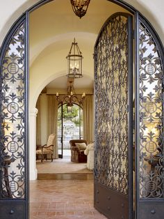 Entry Spanish Design - doors for downstairs exterior