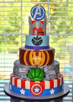 Avengers Cake, Superhero Cake, Captain America Cake, Hulk Cake, Iron Man Cake, Hawkeye Cake, Thor Cake