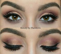Day 7 is a simple brown smokey eye and I used the following: Makeup Revolution…
