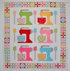 Mixing It Up pattern by Lori Holt. Quilt made by grey dogwood studio.