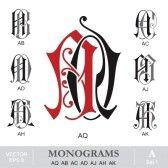 Vintage Monograms AO AL AN AR AP AU AV Royalty Free Cliparts, Vectors, And Stock Illustration. Image 21576972. Vintage Monogram, Monogram Logo, Monogram Letters, Monogram Initials, Alpha Art, Branding Tools, Premium Logo, Tattoo Design Drawings, Most Popular Tattoos