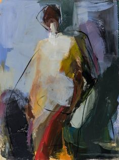 Figurative art, modern figurative painting. Abstract, mixed media #abstractart