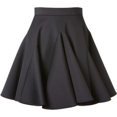 Francesco Scognamiglio Black Neoprene Skater Skirt ($795) ❤ liked on Polyvore featuring skirts, circle skirt, black flared skirt, black high waisted skirt, flare skirt and flared skirt
