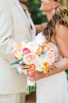 Marco Island Marriott Wedding | Naples Florida Destination Wedding Photography | Diana & John | Beach Wedding | Second Wedding | Coral wedding | Weddings by Socialites | Wedding Inspiration | Garden Rose Bouquet