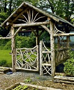 Your backyard will lose its prominence without a garden gate. Try these 39 gorgeous garden gate ideas below and make your own one. You will find these garden gates are not limited to creativity. Garden Gates And Fencing, Garden Arbor, Garden Paths, Garden Junk, Garden Beds, Garden Tools, Tor Design, Gate Design, Design Design