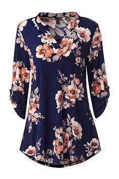 Long Tops For Leggings, Tunics With Leggings, Tunic Shirt, Tunic Tops, How To Roll Sleeves, Blouses For Women, Long Sleeve Tops, Floral Tops, Outfits