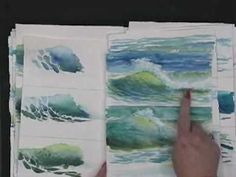 ▶ Painting Waves in watercolor - Hints and Tips by Susie Short - YouTube