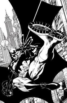 Batman: Noir - Hush (2001) by Jim Lee, inks by Scott Williams *