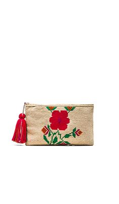 Guanabana Floral Clutch in Natural | REVOLVE