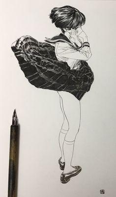 페티시의 결정체같은 그림작가(스압) | 유머 게시판 | 루리웹 모바일 Sketch Manga, Manga Drawing, Figure Drawing, Manga Art, Art And Illustration, Illustrations And Posters, Character Illustration, Comic Kunst, Comic Art