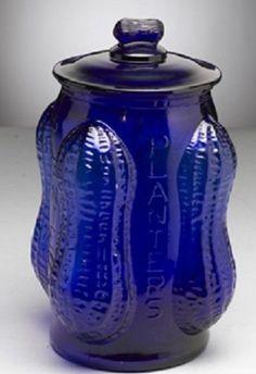 Large Cobalt Blue Glass Peanut Jar Im Blue, Love Blue, Blue And White, Cobalt Glass, Cobalt Blue, Fenton Glassware, Blue Things, Blue Bottle, Antique Lamps