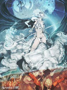 Artist: Reynan Sanchez aka artizako - Title: Zita, Dimension Warper reg - Card: Zita Dimensional Warper