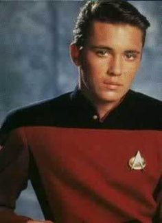 It's my boyfriend! Isn't he adorable? Eight year old me squeals anytime I see Wesley Crusher.