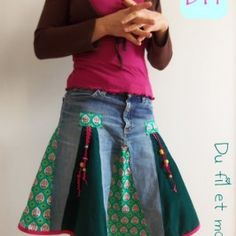 Recycler un vieux jean en jupe