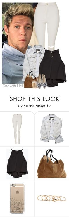 """""""Day with Niall"""" by heslovely ❤ liked on Polyvore featuring Topshop, Versace, Zara, Casetify, With Love From CA and Forever 21"""