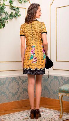 Vestido Escolha a Chave Mostarda | Antix