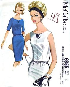 1960s Misses Two Piece Dress Vintage Sewing by MissBettysAttic, $8.00