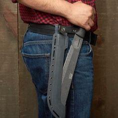 Tough Survival Knife + Machete - Garrett Wade #survivalgear