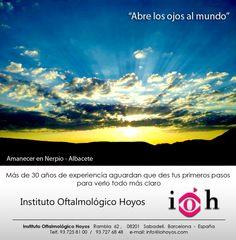 """IOH Instituto Oftalmológico Hoyos, presenta: """"Abre los ojos al mundo"""". Una bella sección que comparte parajes que no te los puedes perder. Siguenos en: www.iohoyos.com"""