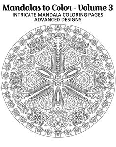 Intricate Mandalas Coloring Pages  Coloring Pages