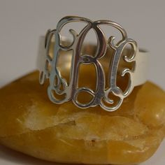 A lovely monogram ring.