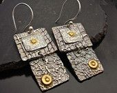 Le Petite Attention Grabbers - Silver and Gold Earrings