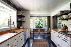 Sonoma, CA home designed by Antonia Martins, galley kitchen