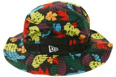 5fe9b9e5a017d Fitted Hawaii Waialeale Floral Bucket Hat