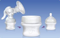 Breastfeeding, Breast Care, Store n' Feed™ Breastmilk Storage Containers. The Store n' Feed™ Storage Container's durable leak-proof construction will stand up to every day use. It is also multi-functional as it transforms, attaching to the SoftFlex™ Breast Pump and Nûby™ Natural Touch™ nipple. Simply remove the container top and replace with the Nûby™ fixture of you choice (not included). It also works great for your child's dry snacks.