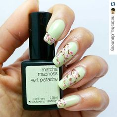 #Repost @natasha_dauncey with @repostapp  Another mani from last week for you whilst I'm getting better. Spring cherry blossom mani inspired by the very talented @sisterlacquer I love her work! Seeing as cherry blossoms are blooming now and it's Easter I'm going to make this my 2nd entry for the @so_nailicious edgy Easter challenge #sonailiciouschallenge3  Details: @official_sensationailuk @sensationailgel matcha madness Acrylic paints for the freehand cherry blossoms HK Girl glisten and…