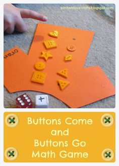 Kitchen Floor Crafts: Buttons Come and Buttons Go (A Pete the Cat Game)