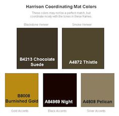Coordinating mats - perfect parings for Larson-Juhl's new Harrison collection!